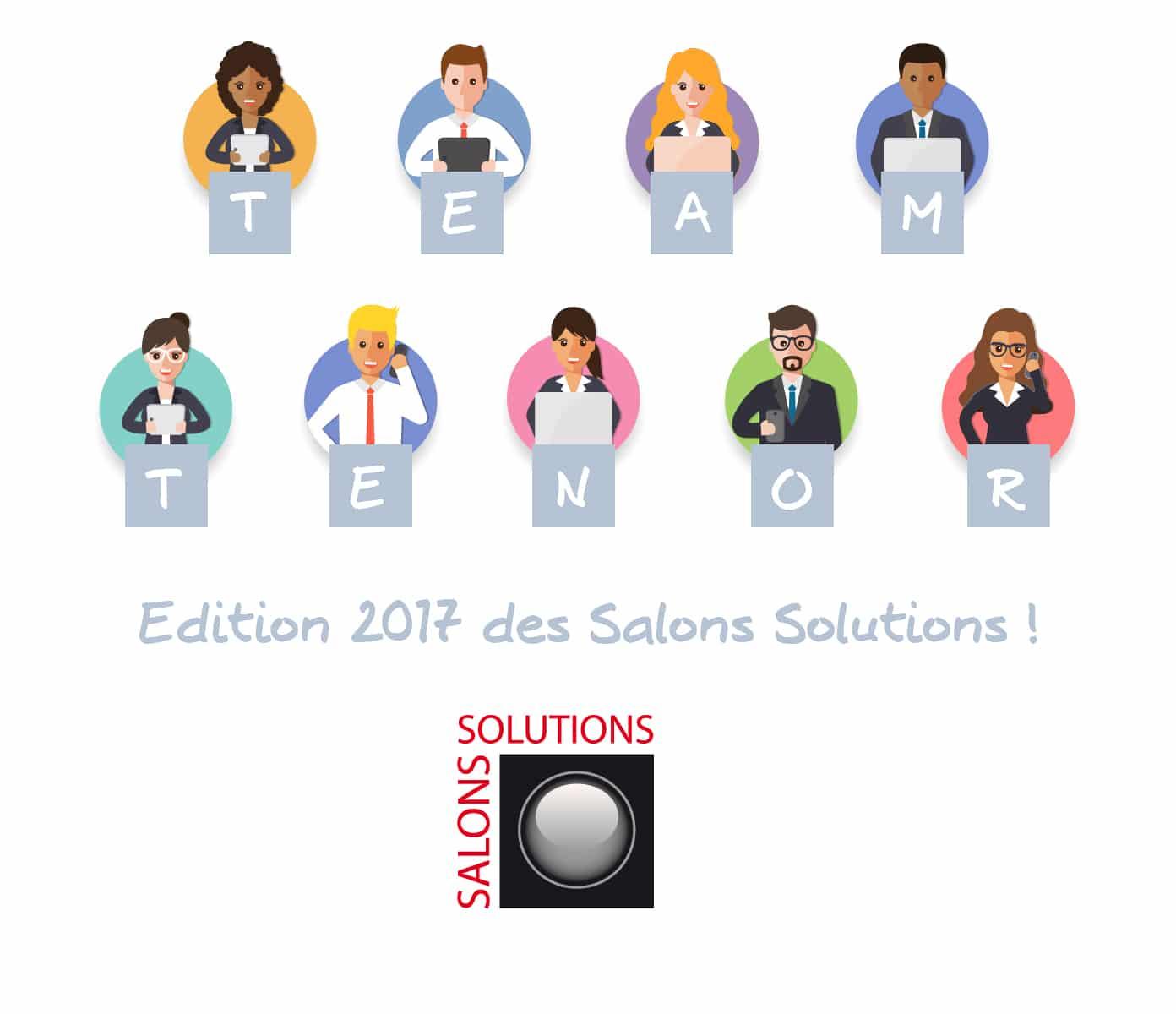 L'équipe Tenor sera présente à l'édition 2017 des Salons Solutions !
